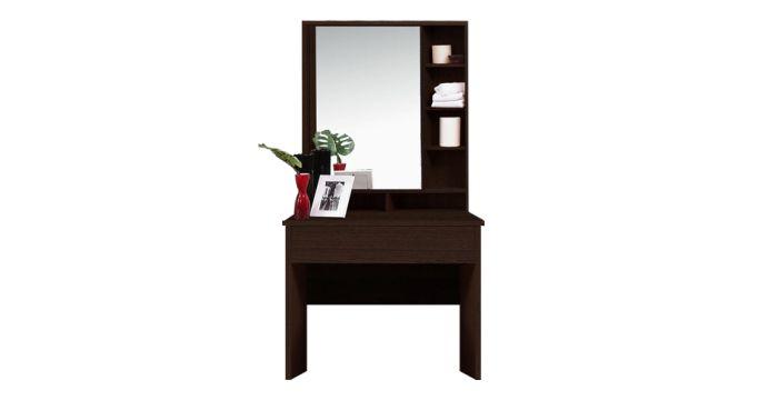 Koloze โต๊ะเครื่องแป้งแบบนั่ง สีเวงเก้ สไตล์โมเดิร์น