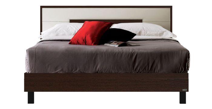 Koloze เตียง 6 ฟุต สีเวงเก้ สไตล์โมเดิร์น