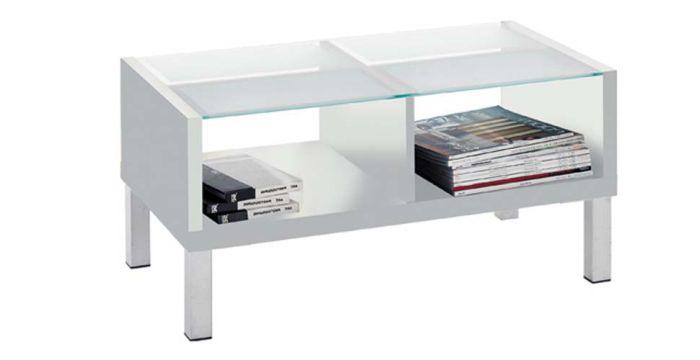 โต๊ะกลาง ไม้ท๊อปกระจก ขนาด 100 ซม. รุ่น Swiss