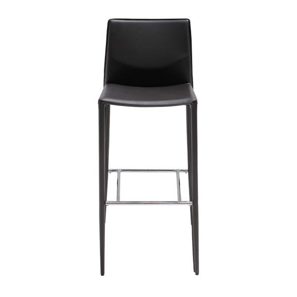 เก้าอี้สตูลบาร์เหล็กเบาะหนัง