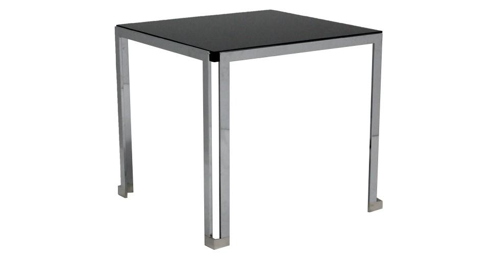 โต๊ะทานอาหาร ขาเหล็กท๊อปกระจก ขนาด 80-119 ซม. รุ่น Celine