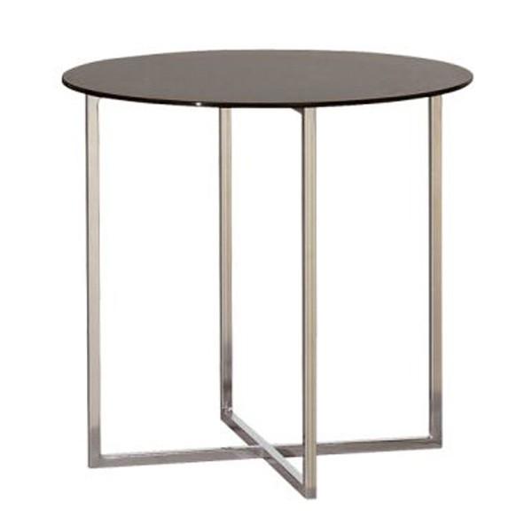 โต๊ะข้างเหล็กท๊อปกระจก