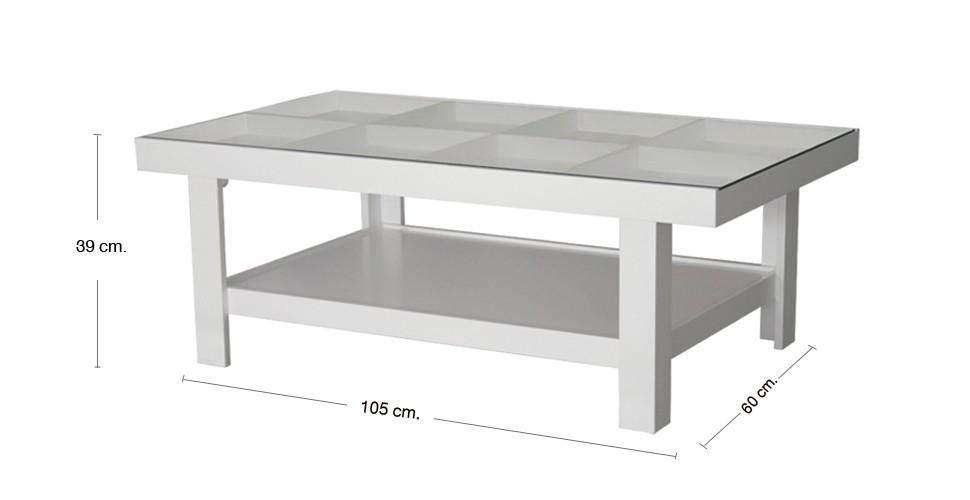 Adorn โต๊ะกลาง สีขาว ขนาด 105 ซ.ม. สไตล์คอนเทมโพรารี