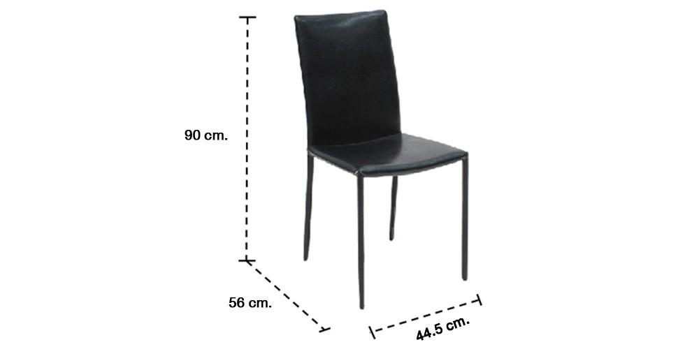 Yaro เก้าอี้ทานอาหาร สีดำ ขนาด 44 ซ.ม.