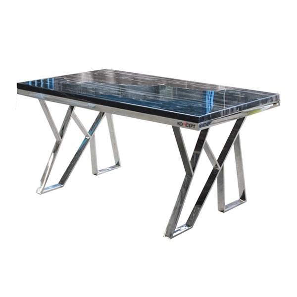 Apollo โต๊ะทานอาหาร สีสแตนเลส ขนาด 150 ซ.ม.