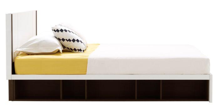Patinal เตียง 6 ฟุต สีเวงเก้ สไตล์โมเดิร์น