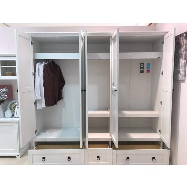 ตู้เสื้อผ้าบานเปิด ขนาด 220 ซม.  รุ่น Melona