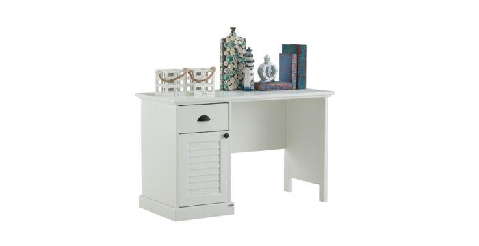 Mahony โต๊ะทำงาน สีขาว ขนาด 120 ซ.ม. สไตล์คอนเทมโพรารี