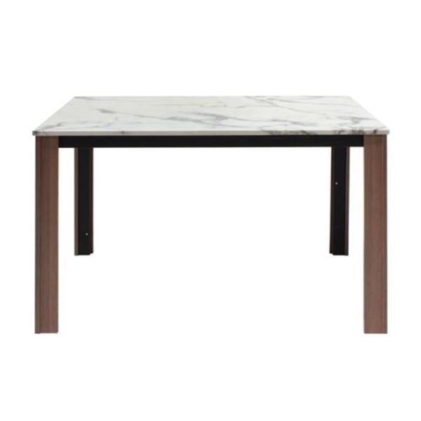 โต๊ะอาหารขาไม้ท๊อปหิน