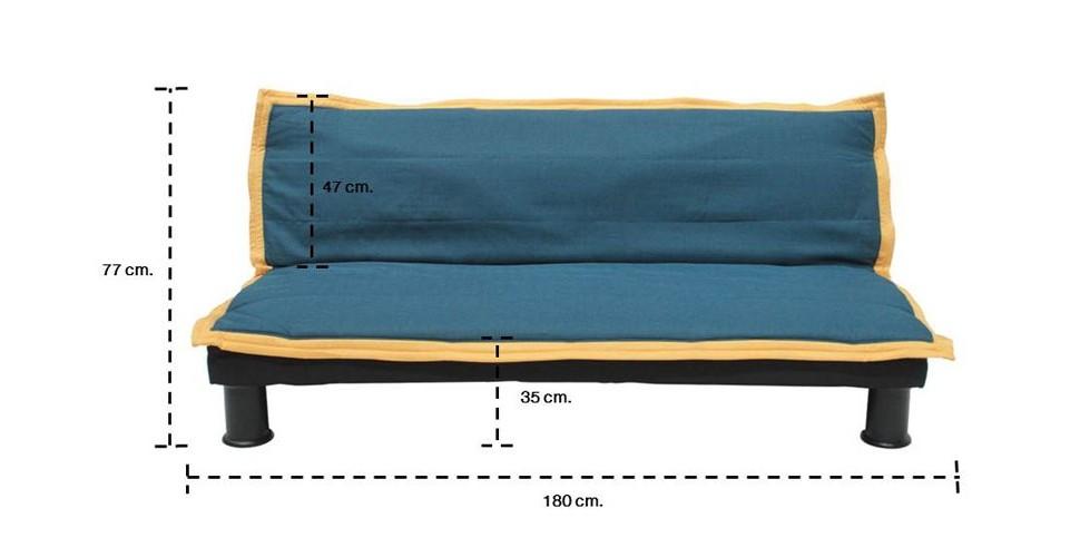 U-Saw โซฟาผ้า สีน้ำเงิน ขนาด 180 ซ.ม. สไตล์โมเดิร์น