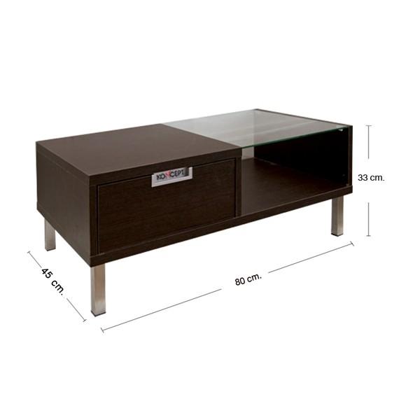 Wish โต๊ะกลาง สีเวงเก้ ขนาด 80 ซ.ม. สไตล์คอนเทมโพรารี