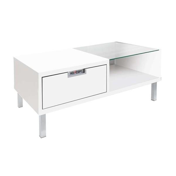 โต๊ะกลาง ไม้ท๊อปกระจก ขนาด 100 ซม. รุ่น Wish