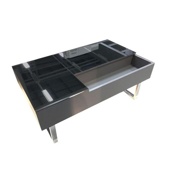 โต๊ะกลาง ไม้ท๊อปกระจก ขนาด 100-119 ซม. รุ่น Acadia