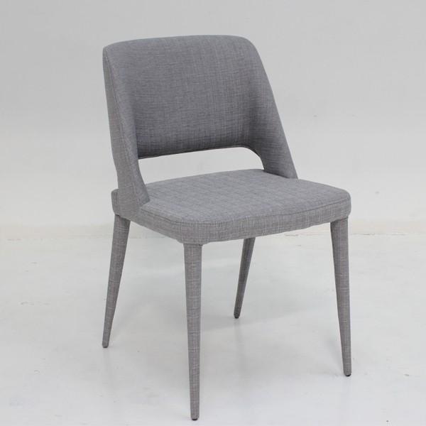 เก้าอี้ทานอาหาร เหล็กเบาะผ้า รุ่น Yulia
