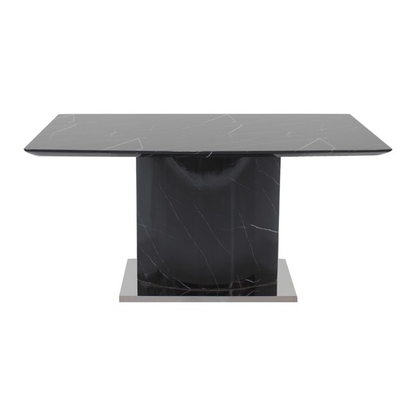 โต๊ะอาหารขาเหล็กท๊อปหิน