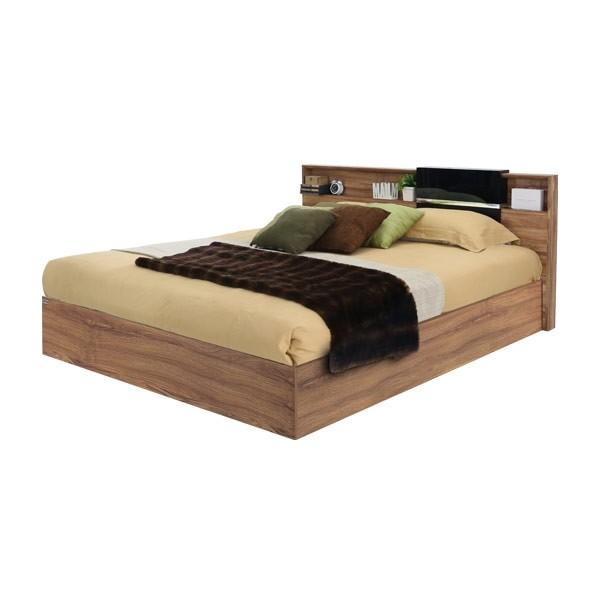 Rex เตียง 5 ฟุต สีออทัมน์บราวน์ สไตล์คอนเทมโพรารี