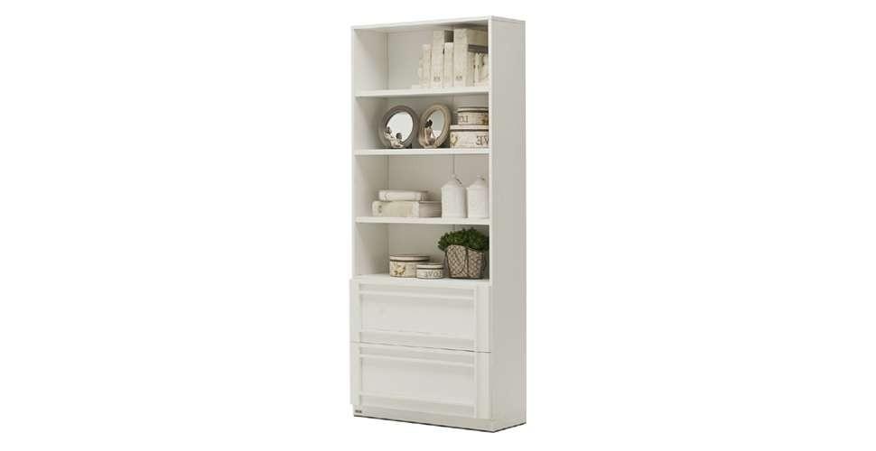 Lybrary ตู้เก็บของ สีขาว ขนาด 79 ซ.ม. สไตล์คอนเทมโพรารี