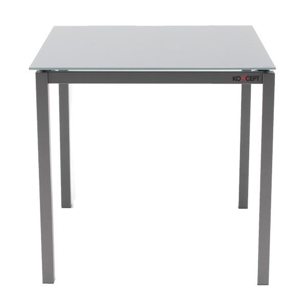 โต๊ะทานอาหาร ขาเหล็กท๊อปกระจก ขนาด 80-119 ซม. รุ่น Ruber