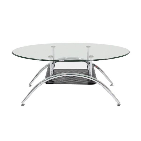 โต๊ะกลาง เหล็กท๊อปกระจก ขนาด 100-119 ซม. รุ่น Season