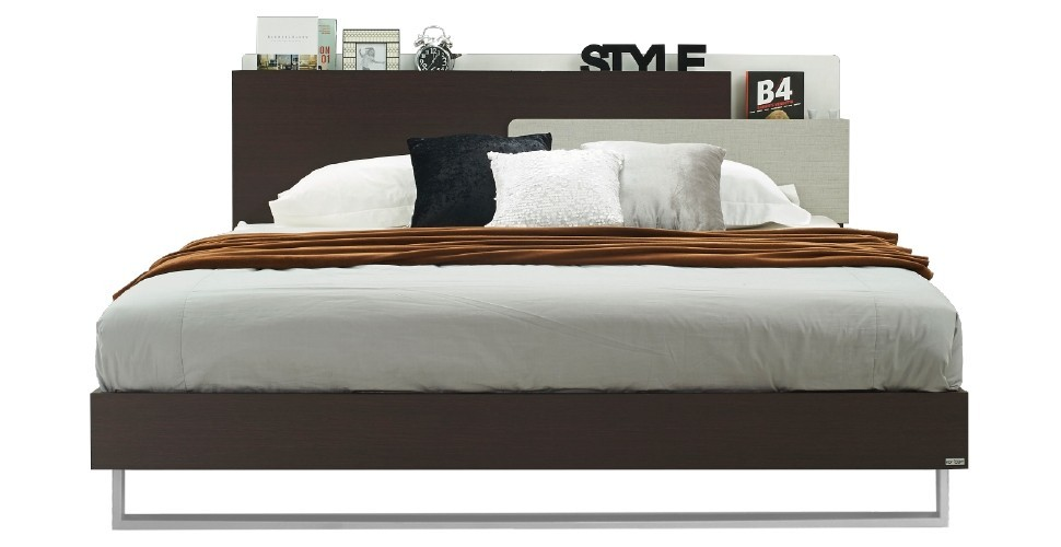 Hewka เตียง 6 ฟุต สีเวงเก้ สไตล์โมเดิร์น