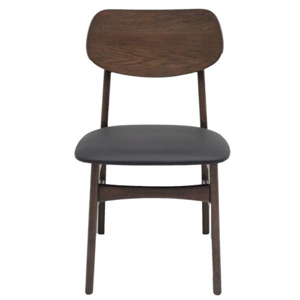 เก้าอี้ทานอาหาร ไม้เบาะหนัง รุ่น Moko