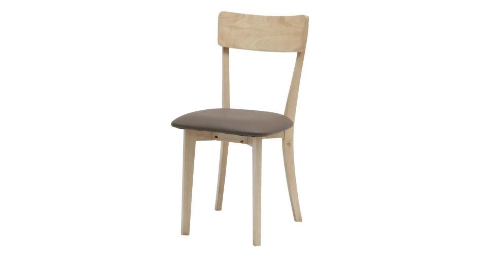Twitter เก้าอี้ทานอาหาร สีเนเชอร์รอล วู้ด ขนาด 55 ซ.ม.