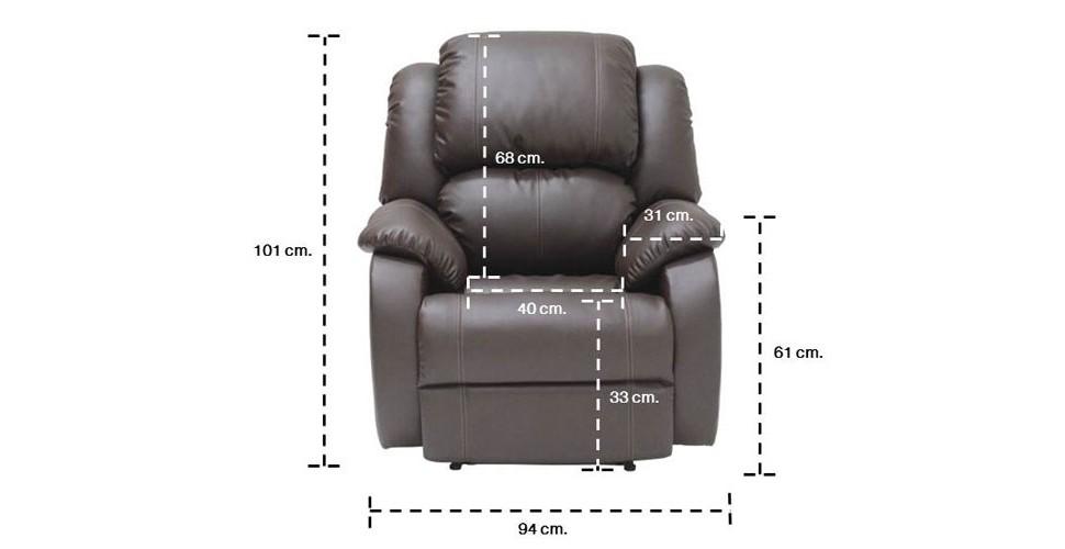 Banaris เก้าอี้พักผ่อนหนังสังเคราะห์ ขนาด 94 ซ.ม.