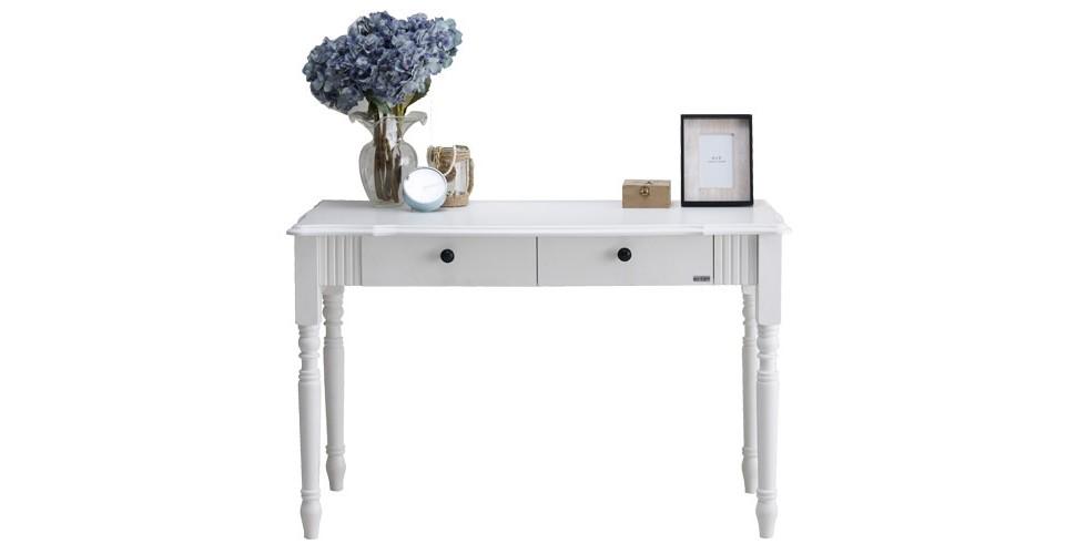 Pheona โต๊ะทำงาน สีขาว ขนาด 120 ซ.ม.