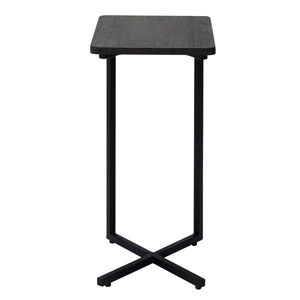โต๊ะข้างเหล็กท๊อปไม้