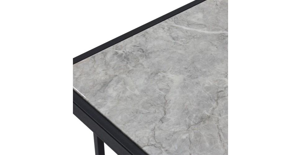 โต๊ะทานอาหาร ขาเหล็กท๊อปหิน ขนาด 80-119 ซม. รุ่น Fukuoka