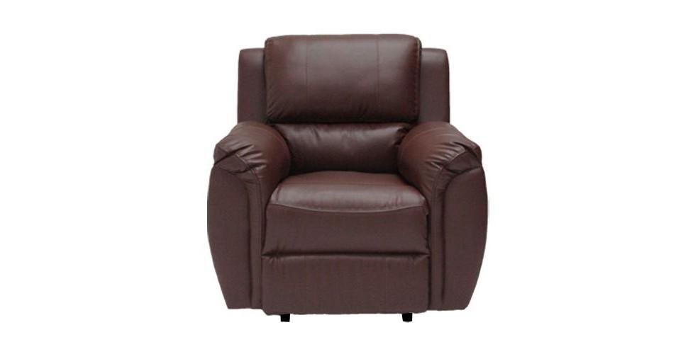 Soly เก้าอี้พักผ่อนหนังสังเคราะห์ สีน้ำตาล โซฟาขนาดเล็กกว่า1.6 m