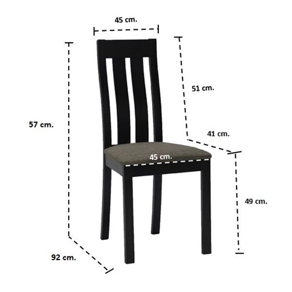 เก้าอี้ทานอาหาร ไม้เบาะผ้า รุ่น Envo