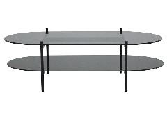 โต๊ะกลางเหล็กท๊อปกระจก
