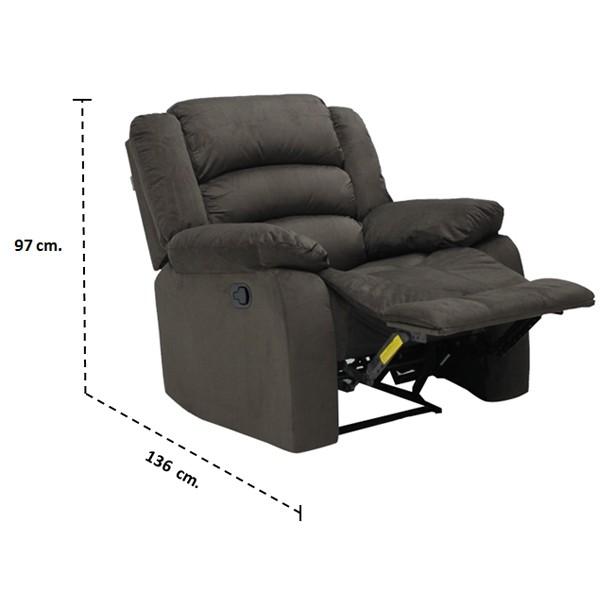 เก้าอี้พักผ่อนผ้า 1 ที่นั่ง รุ่น Zhane