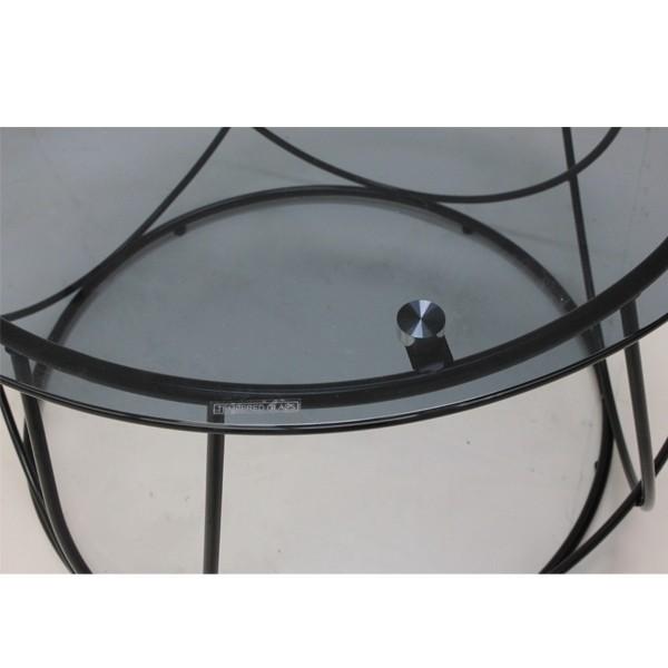 โต๊ะกลาง เหล็กท๊อปกระจก ขนาด 100 ซม. รุ่น Scoth
