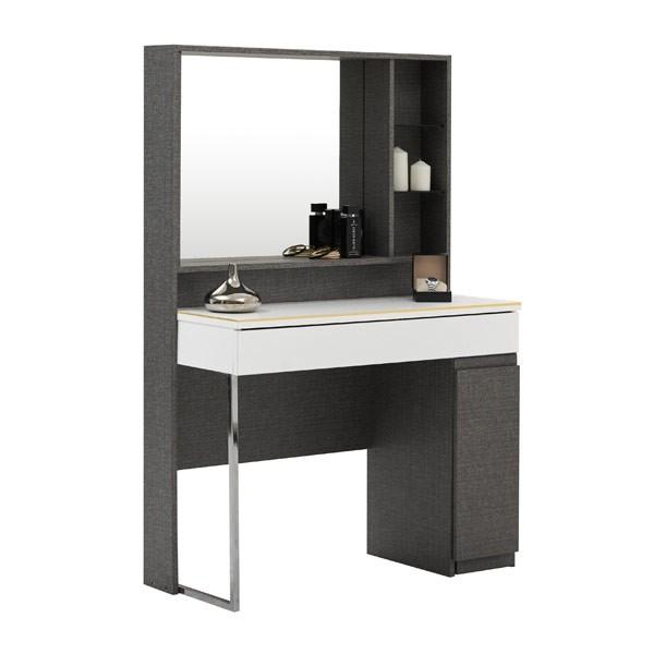 ELEMENT/โต๊ะแป้งDT-100/เกรย์ลิน/PHGขาว