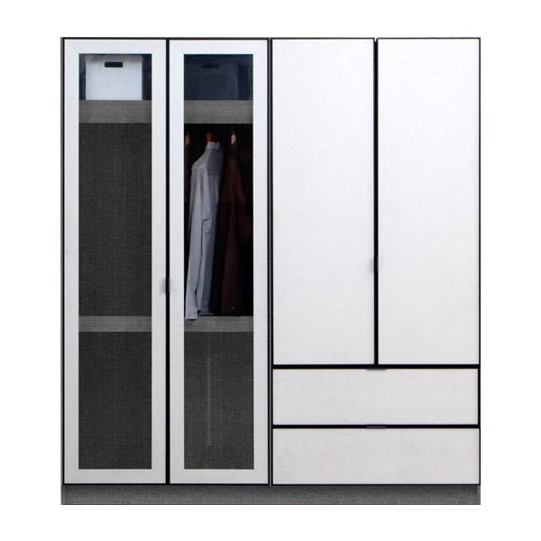 PARIS/ตู้ผ้าWE-180-2DW/เกรลิน/ไวทลิ-ไวลิ