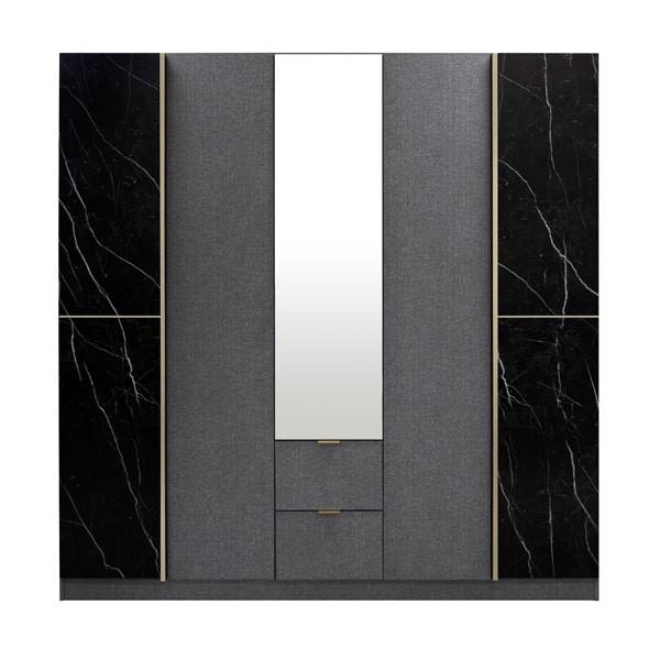 MARSEILLE/ตู้ผ้าWE200/เกรย์ลิน/BLMQ