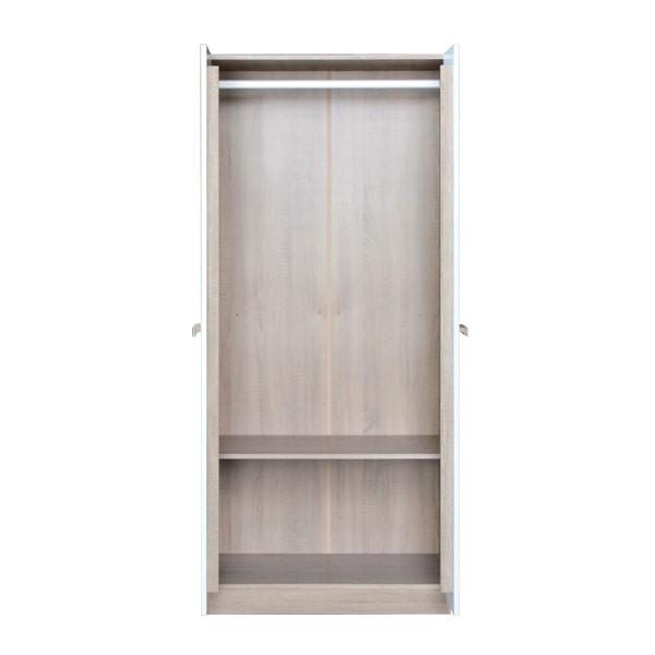 HANZ/ตู้ผ้าWO80/โซลิคโอ๊ค/ขาว