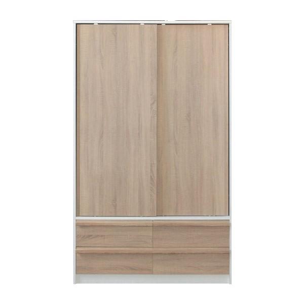 HANZ/ตู้ผ้าWS120/ขาว/โซลิคโอ๊ค