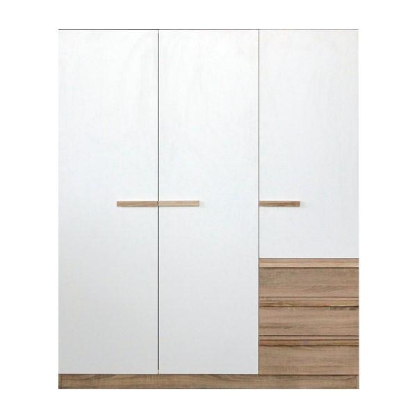 HANZ/ตู้ผ้าWO150/โซลิคโอ๊ค/ขาว