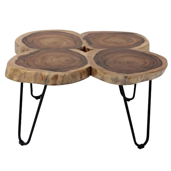 โต๊ะกลางFerrero/เหล็กดำ/ไม้สีธรรมชาติ