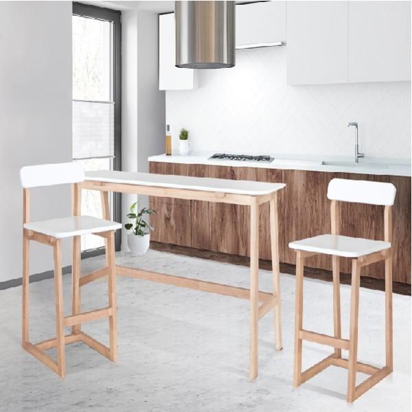 KC-PLAY/BUDDI/โต๊ะบาร์/ขาว/ลินเบิก