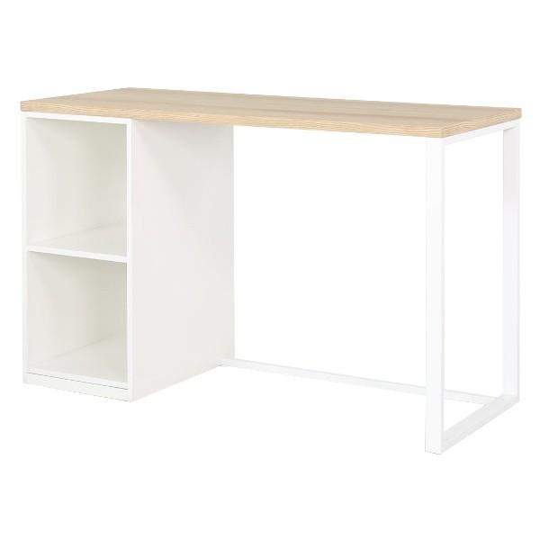 PW/FLIXI/โต๊ะทำงาน120/ขาว/ลินเบิร์กโอ๊ค