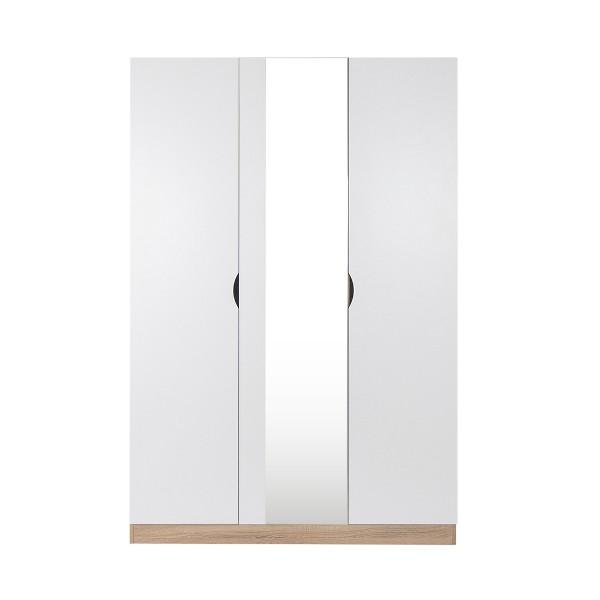 HAVIN/ตู้ผ้าWO120/โซลิคโอ๊ค/ขาว