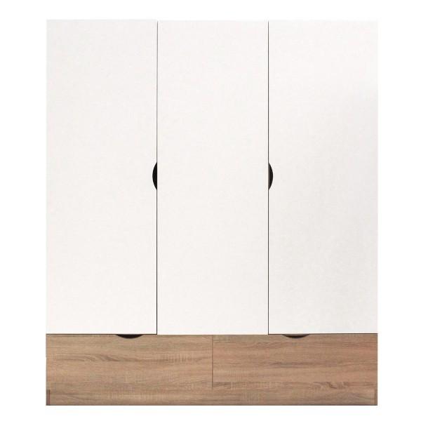 HAVIN/ตู้ผ้าWO150/โซลิคโอ๊ค/ขาว