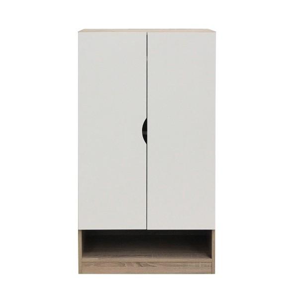 PREEM/ตู้รองเท้าSH60/โซลิด/ขาว