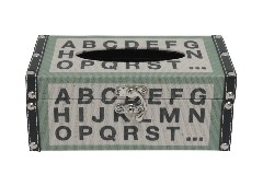 SBกล่องทิชชู#GF-L767/ผ้า+MDFเขียว+ครีมGF