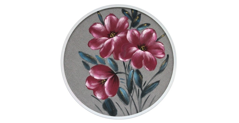 SBภาพแขวน#JYN23176/ไม้+ผ้า70x70ลายดอก/J