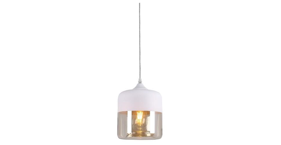 SBโคมไฟแขวน#DH2834W/โลหะ+แก้ว/ขาว/DB***